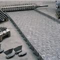 Cast link belts for continuous heat treatment furnaces