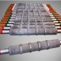 Wet rolls for tunnel furnaces